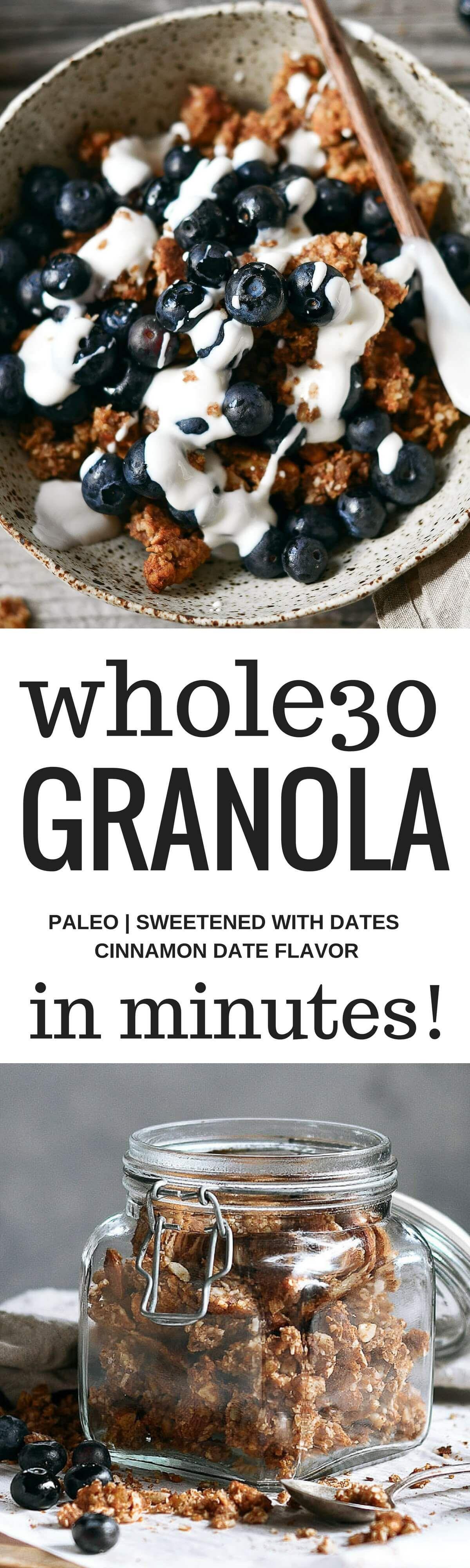 Easy grain free cinnamon date granola recipe whole