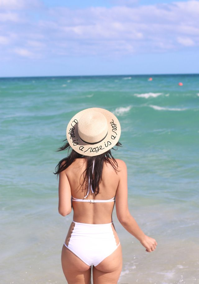 A rose is a rose is a rose Eugenia Kim Beach Hat