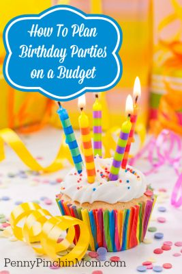 Planning A Birthday Party on a Budget #partybudgeting