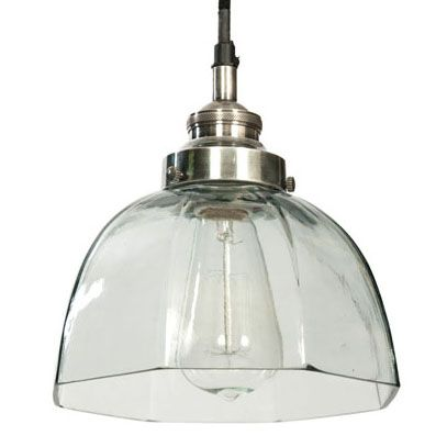We love the simplicity and versatility of this classic Farmhouse Glass Pendant Light!