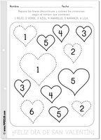 free spanish printables for valentine 39 s day colors numbers vocabulary and a pop up heart. Black Bedroom Furniture Sets. Home Design Ideas