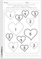 san valent n colores n meros vocabualrio y tarjeta spanish printables for valentine 39 s day. Black Bedroom Furniture Sets. Home Design Ideas