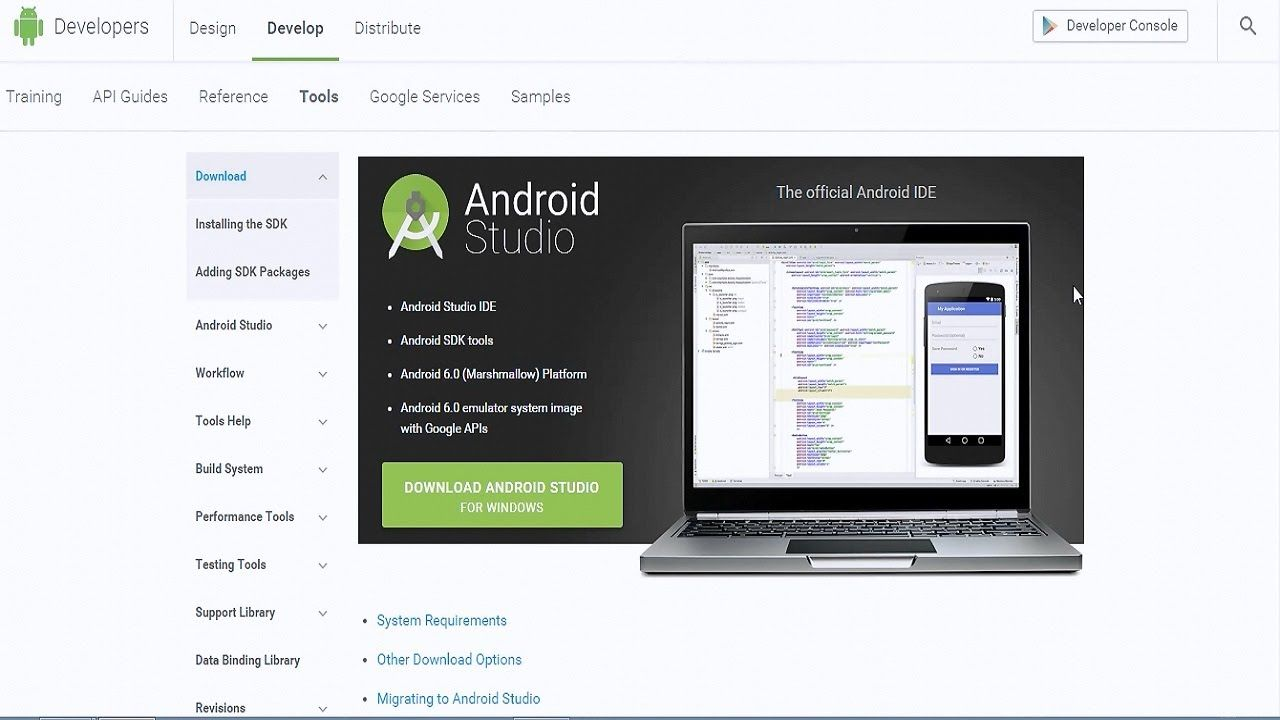 How to install the Android SDK Android studio, Android
