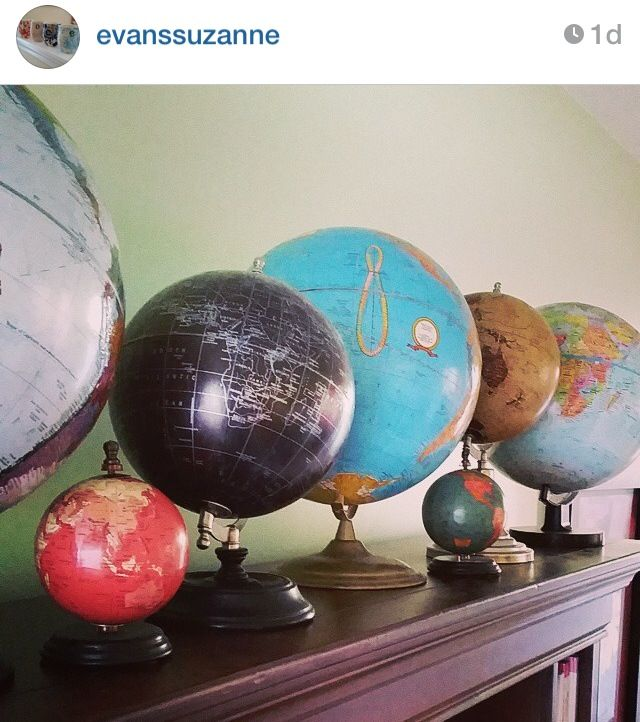 Collecting old globes.. #vintage #home #decor
