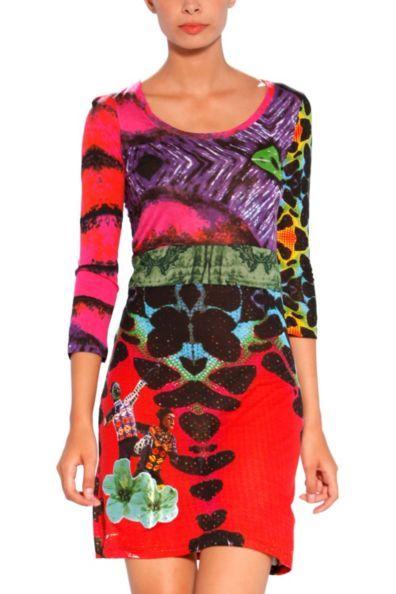 Usa Fun Desigual Dress Blues Explosion Fashion Canada Toronto ffF8Xax