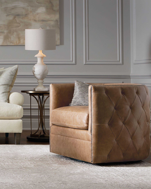 Bernhardt Palazzo Swivel Chair Leather Swivel Chair Bernhardt Furniture Swivel Chair