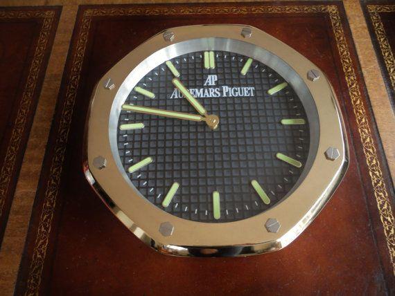 Audemars Piguet Royal Oak Ap Gold Showroom Wall Clock Dealers Display Audemars Piguet Royal Oak Piguet Audemars Piguet