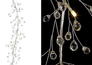 Check out the deal on Battery Operated Crystal Drop Garland  5 Feet - 10 Warm White LED's at Battery Operated Candles