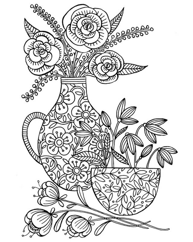 Colour Me Pretty Coloring Canvas Coloring Canvas Detailed Coloring Pages Flower Coloring Pages