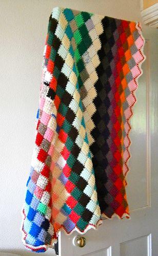 Ravelry Tunisian Crochet Entrelac Throw Pattern By Lion Brand Yarn