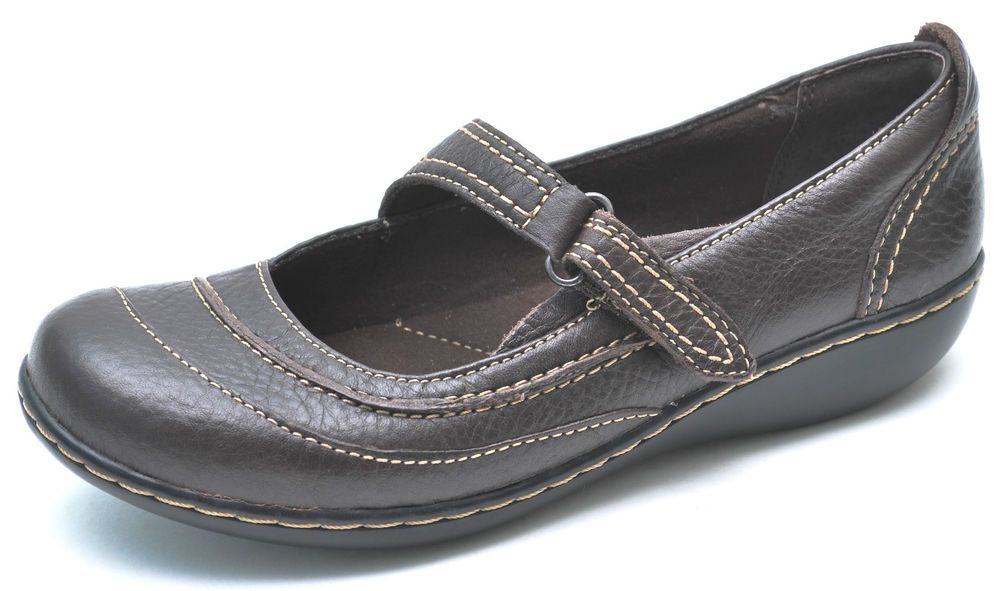 Clarks Bendables ASHLAND AVENUE Brown Mary Janes Shoes Womens 6