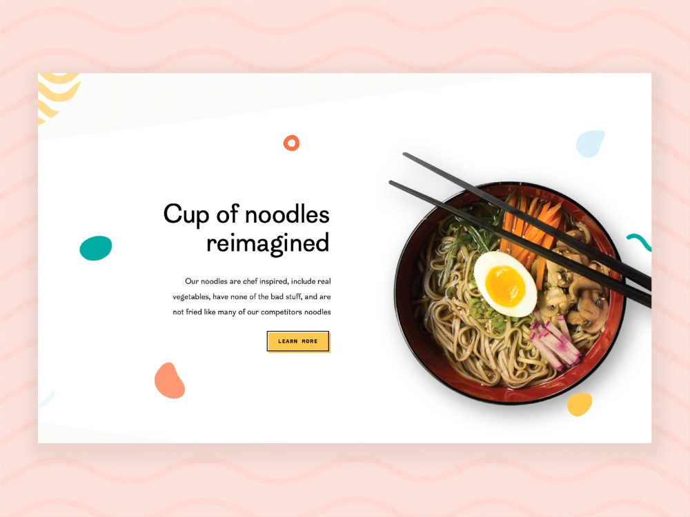 Parallax Scrolling - Common Foods Landing Page