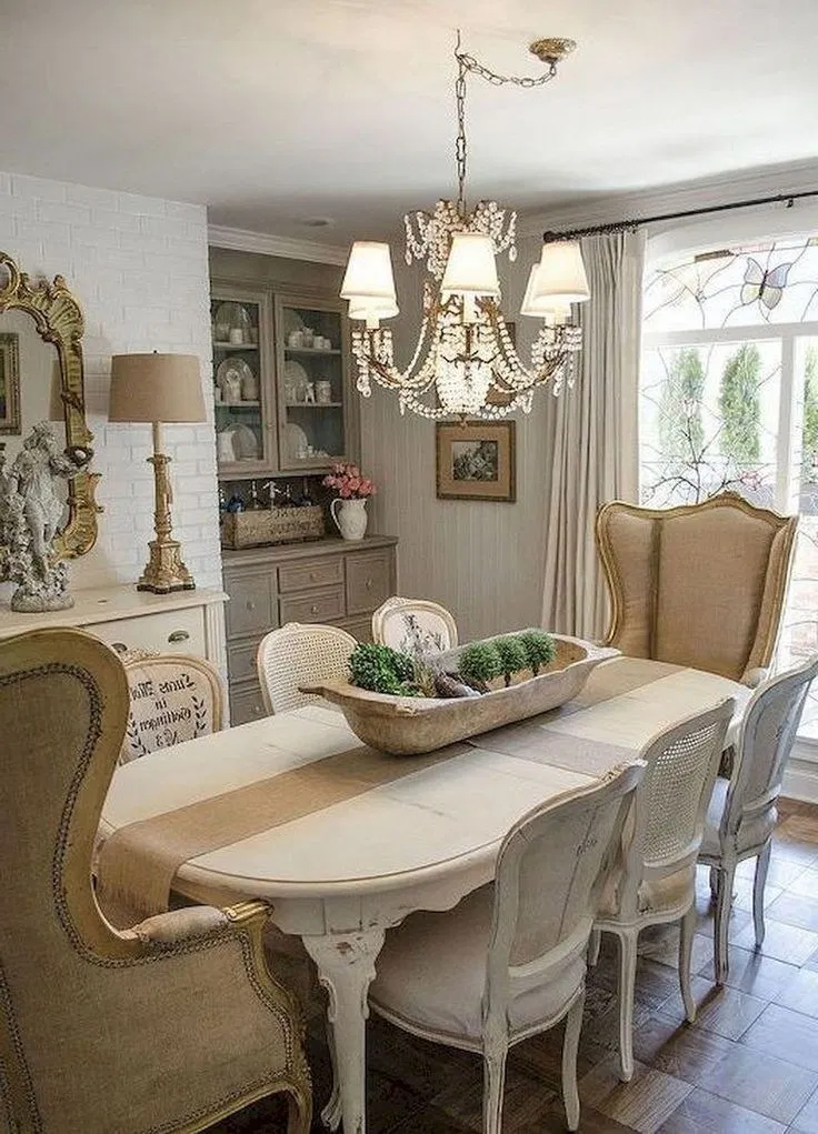 Amazing Easy And Minimalist Dining Table Decor Ideas 33 Fugar Sepatula French Country Dining Room French Country Dining Room Decor French Country Living Room
