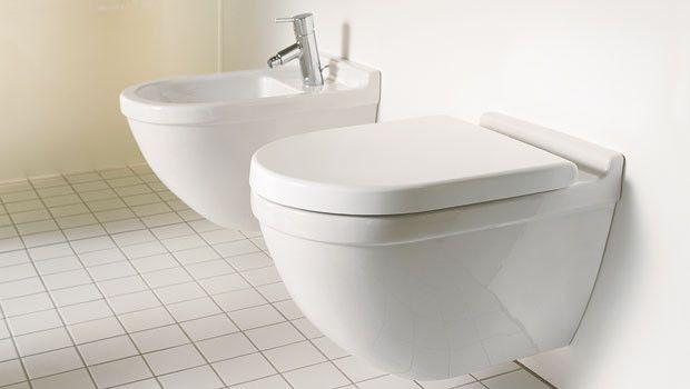 Bidet Bad duravit starck 3 wall mounted wc bowl and bidet bad