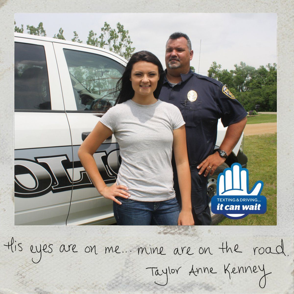 """Reason 52 #ItCanWait: """"His eyes are on me…mine are on the road."""" Take the pledge to never text and drive again at itcanwait.com"""