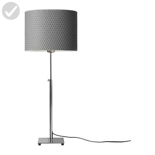 ikea 201 908 34 alang table lamp nickel plated gray unique