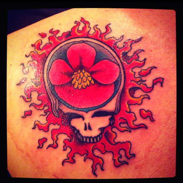 My Dad S Grateful Dead Tat It S A Scarlet Begonia Scarlet Is My Mom S Name Sweet Right 3 Hippie Tattoo Grateful Dead Tattoo Tattoos