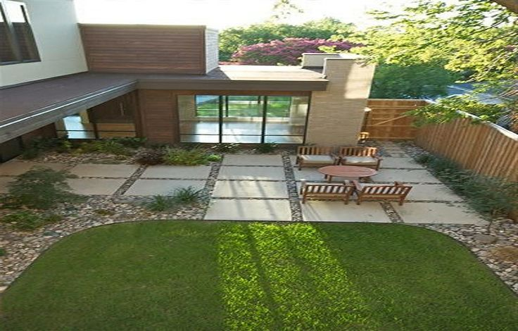 Pebbles Between Pavers Large Concrete Patio Pavers With