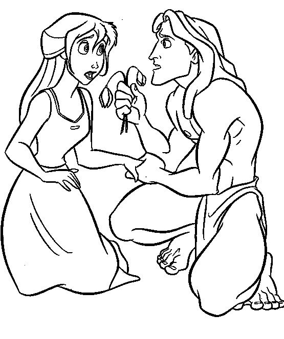 Tarzan Give Flowers To Jane Porter | Tarzan Coloring Pages ...