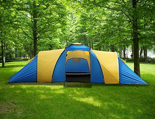 Peaktop 3 Rooms 9 Persons Large Domes Group Family C&ing Tent Waterproof With Carry Bag 1 & Peaktop 3 Rooms 9 Persons Large Domes Group Family Camping Tent ...