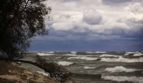 Image result for lake michigan choppy water and clouds