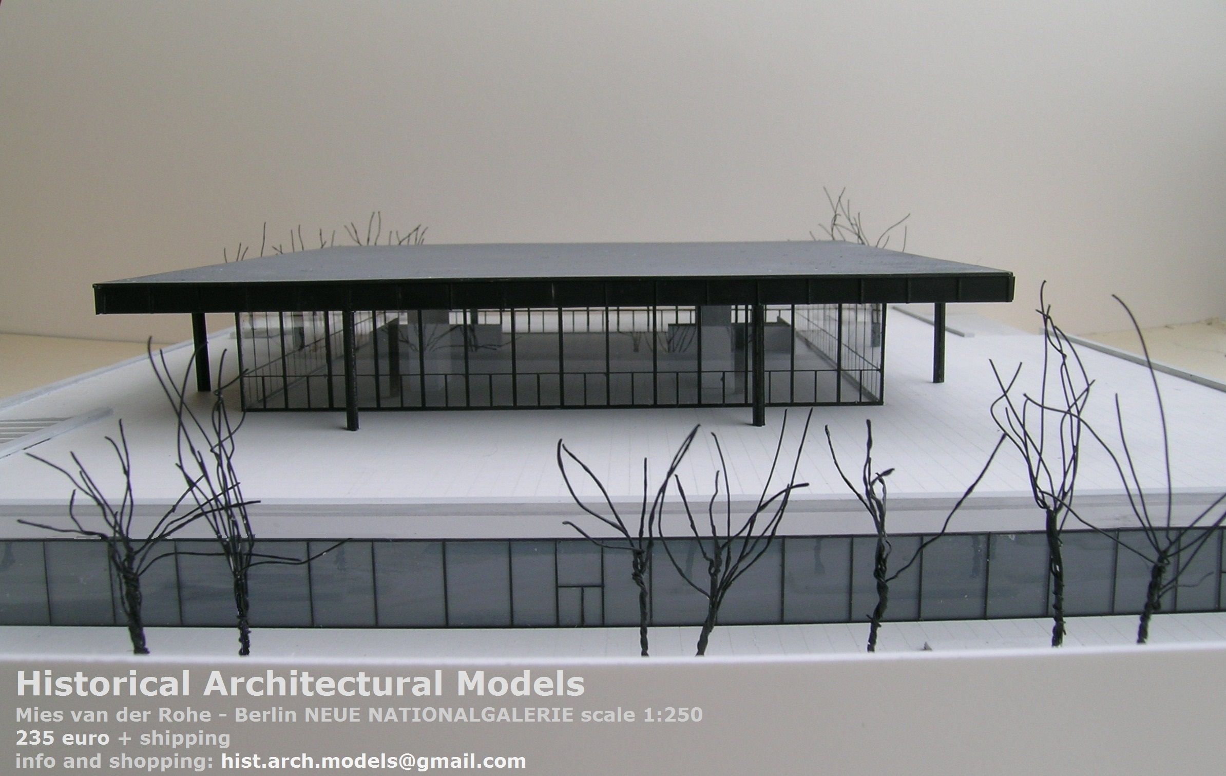 Plexiglas Berlin neue nationalgalerie by mies de rohe scale 1 250 size cm 54 5 x