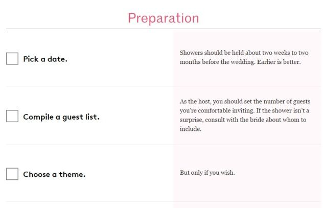 5 Free Biridal Shower Checklist Printable   visit www.freetemplateideas.com