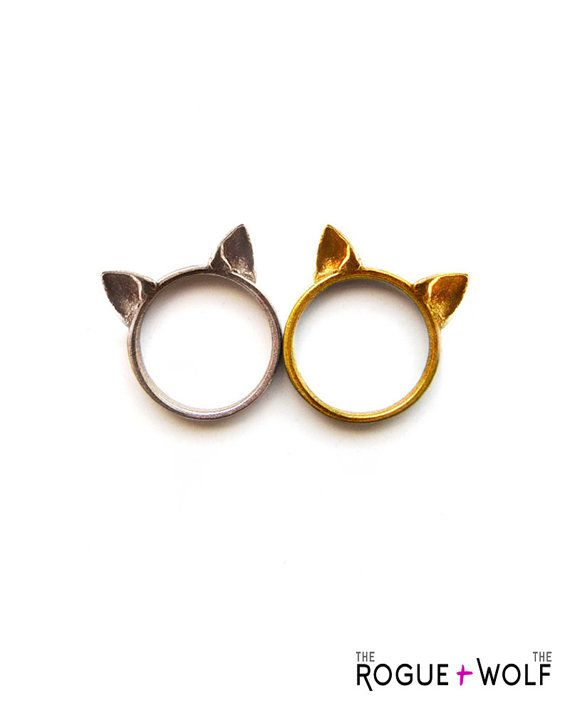 Cat Ears Ring In Steel A To Adorn Your Hands
