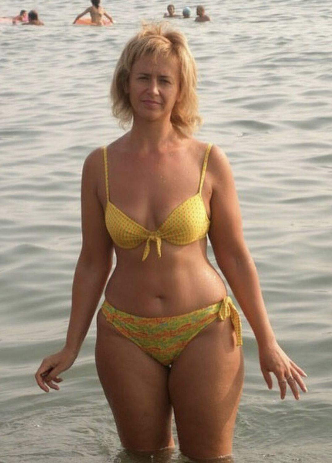 Bikini mature in Celebrities Over