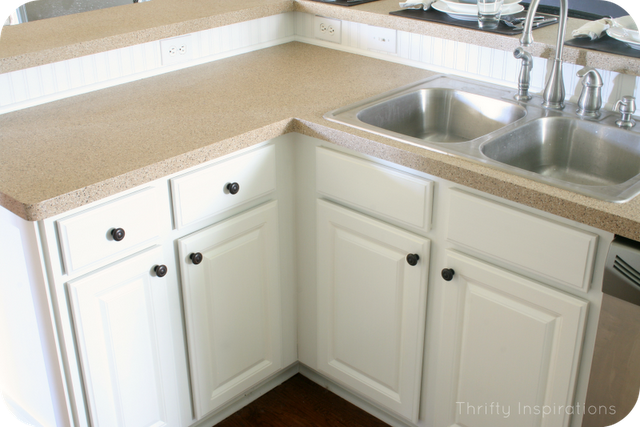 Kitchen Home Tour Painted Countertops With Rustoleum Countertop Kit In Desert Sand