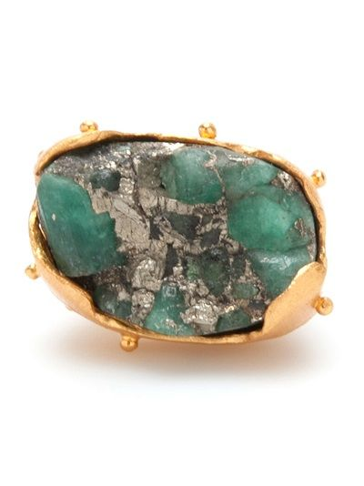 Shop now: Paula Mendoza Raw Emerald Ring