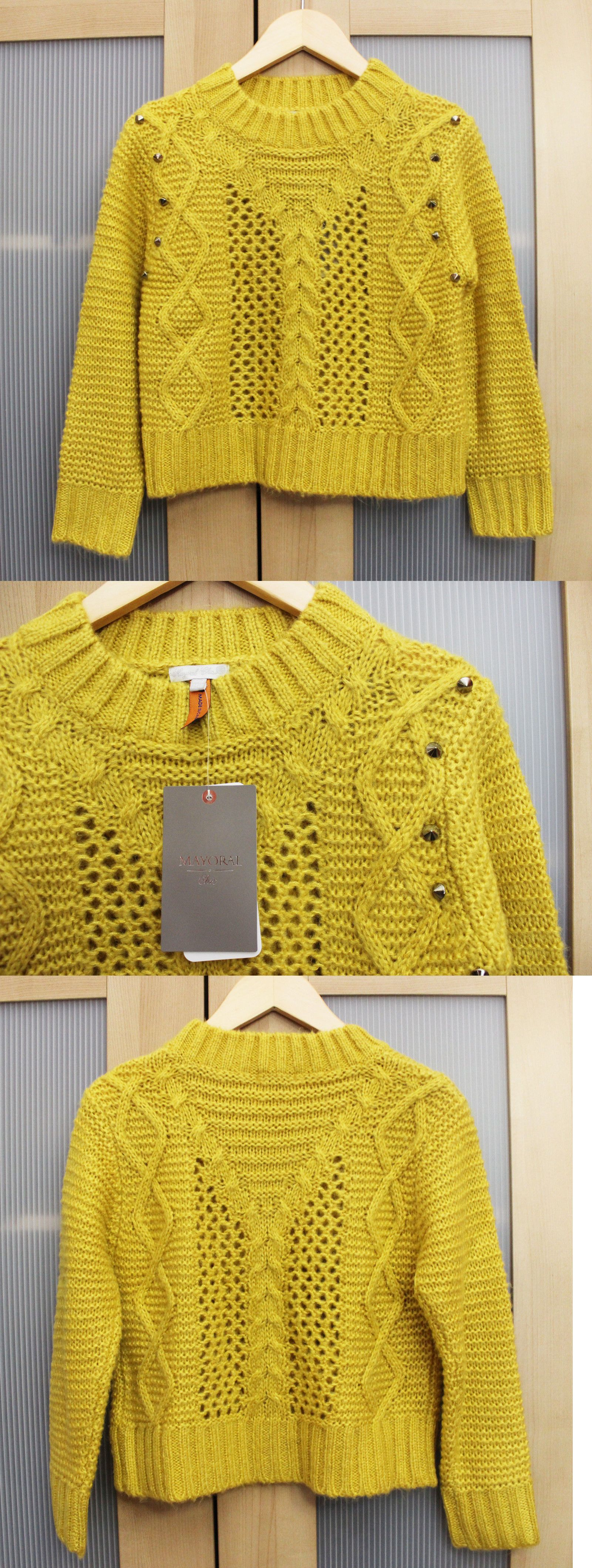 Sweaters 51582: Nwt Mayoral Girls Cable Knit Sweater With Gold ...