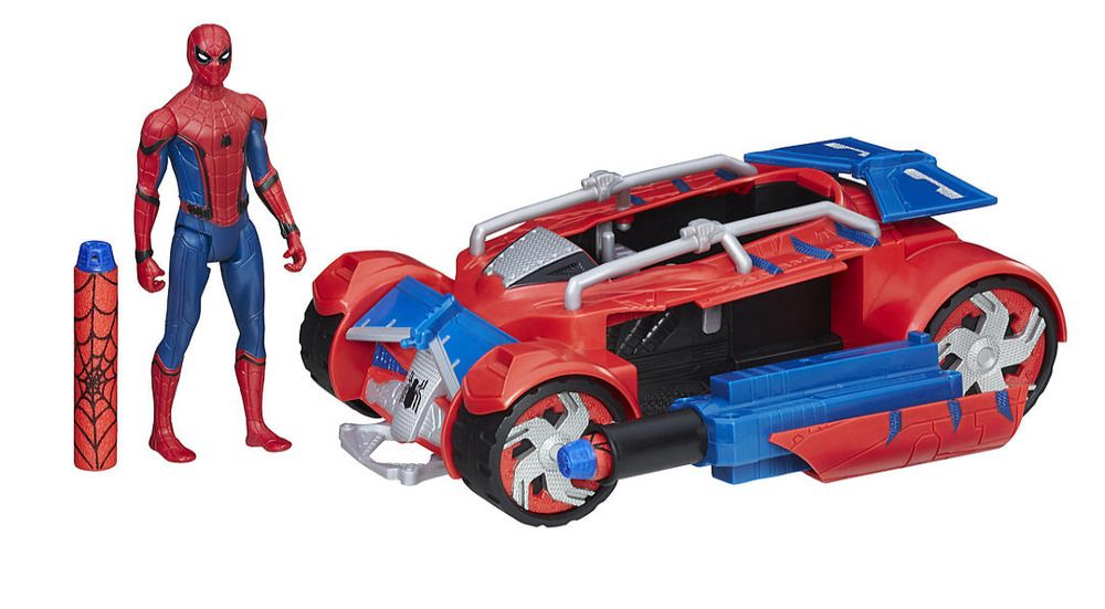 Spiderman Toys For Kids : Kids spider man toy figure car play set homecoming spiderman with