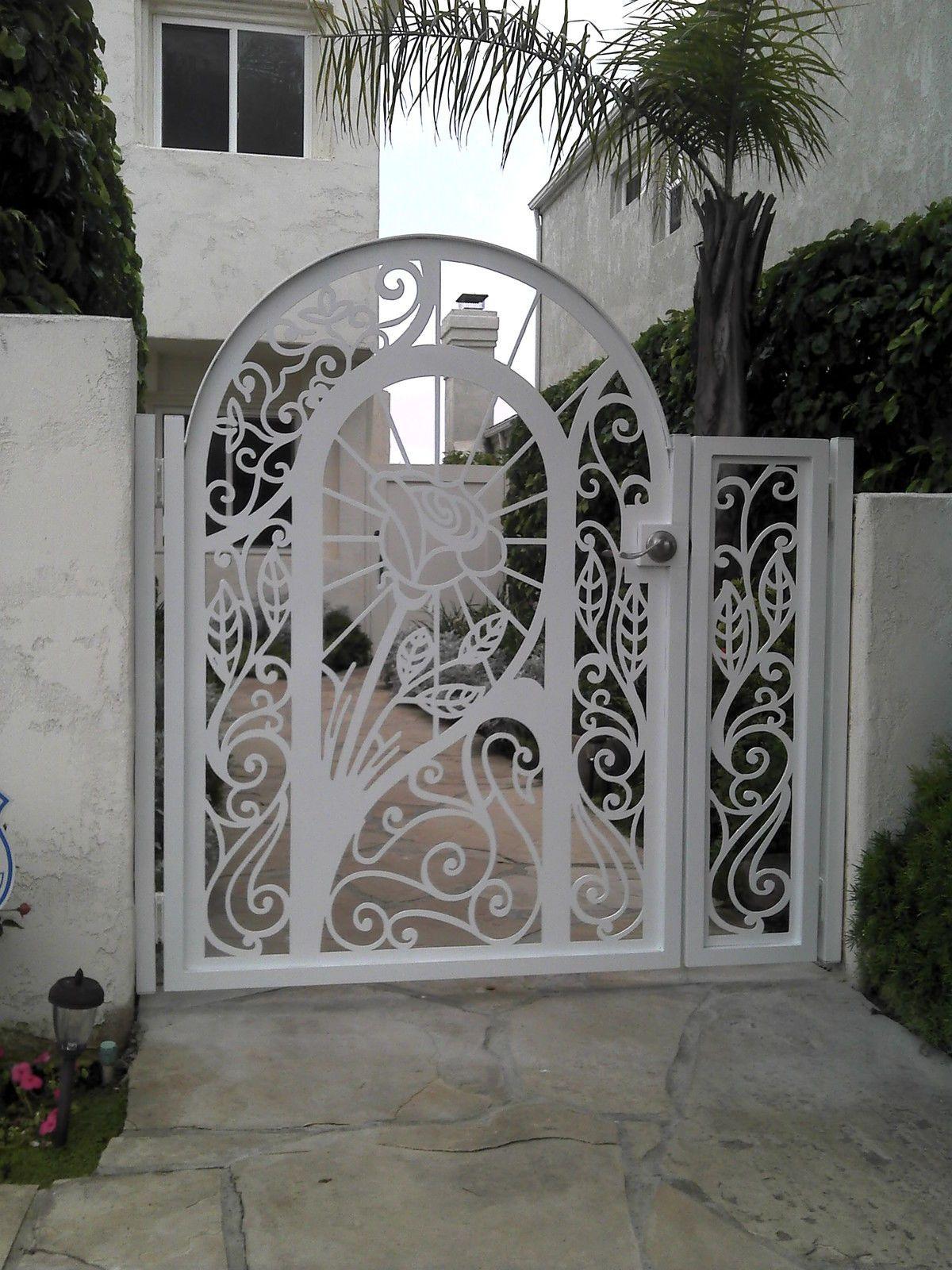 Ornamental iron panels - Metal Gate Panel Custom Walk Pedestrian Ornamental Iron Garden Art Made In Usa