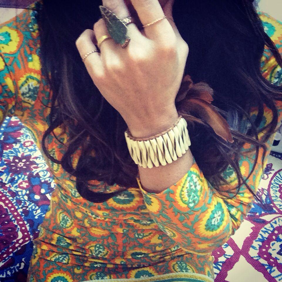 My bracelet.  Arnhem Clothing Dress.