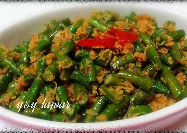 Resep Lawar Kacang Panjang Oleh Yny Resep Resep Masakan Indonesia Resep Masakan Asia Kacang