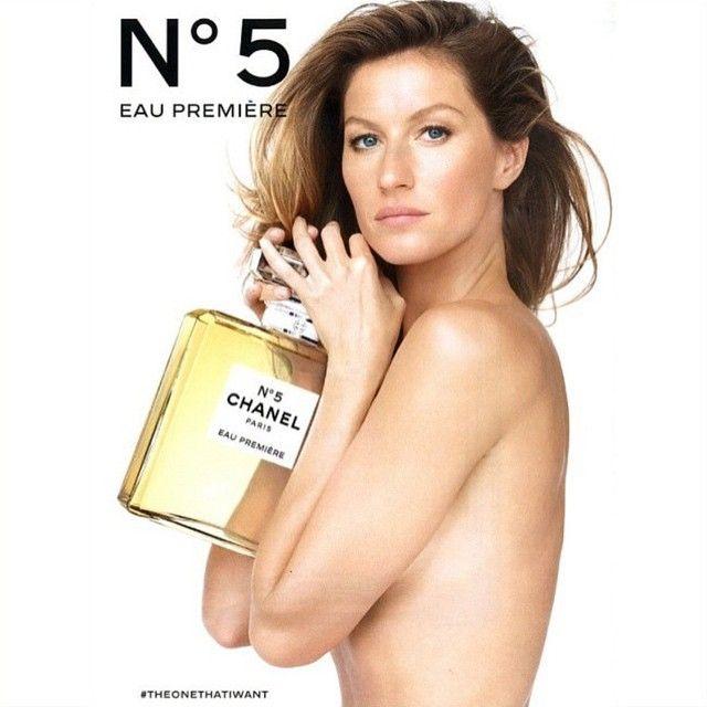 """""""Bao noite com a nova campanha de #Gisele para o perfume #Chanel 5"""""""