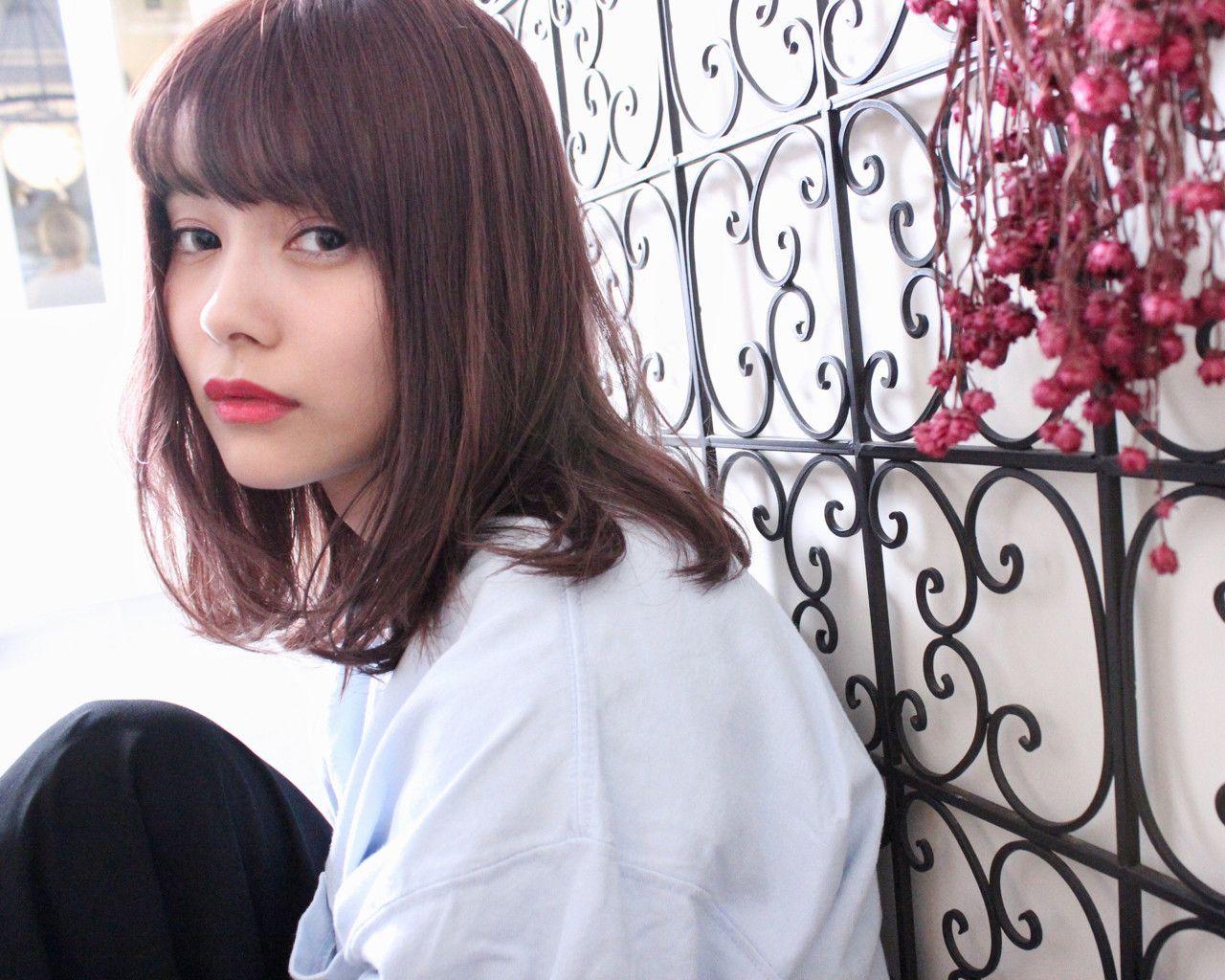 ピンクベージュの髪色で女度up おすすめヘアスタイル10選 ヘア