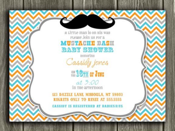 graphic regarding Free Printable Mustache Baby Shower Invitations named Printable Mustache Youngster Shower Invitation No cost Thank Yourself