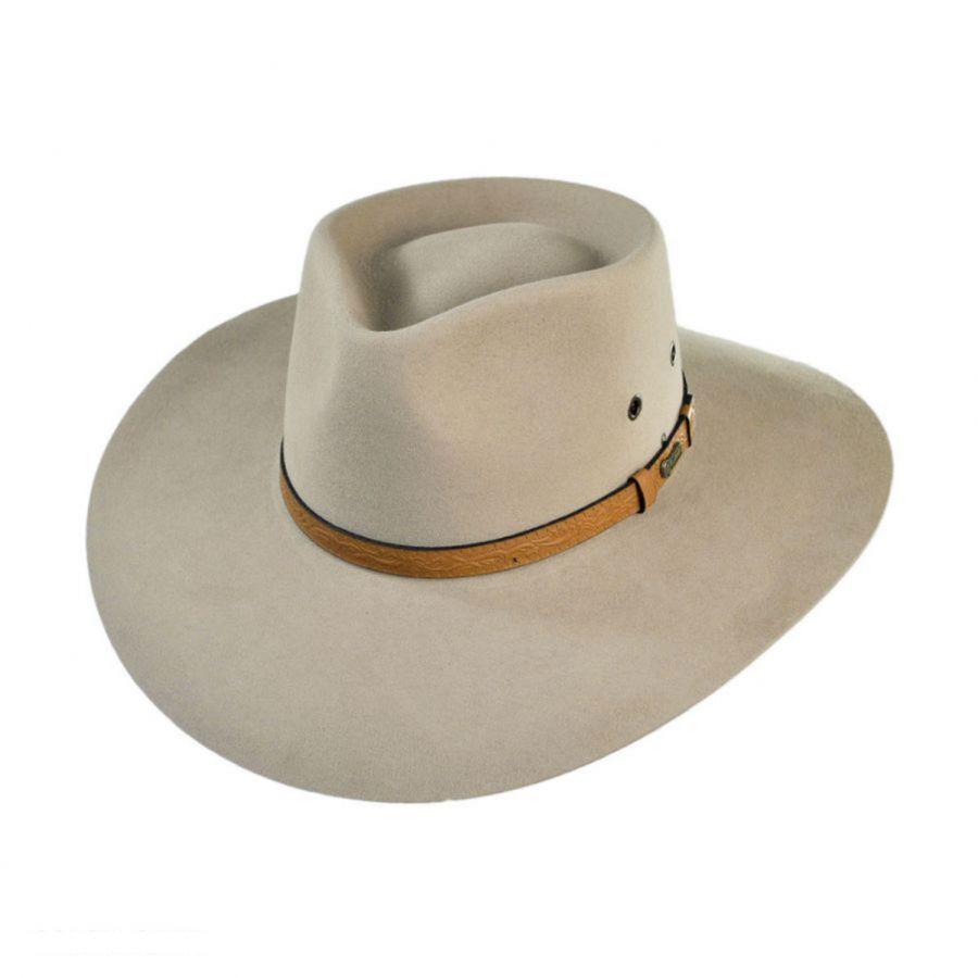 Akubra Territory Fur Felt Australian Western Hat Cowboy Western Hats Western Hats Akubra Leather Hats