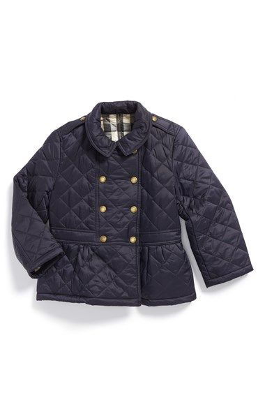 Burberry Diamond Quilted Peplum Jacket Baby Girls Quilted Jacket Peplum Jacket Jackets