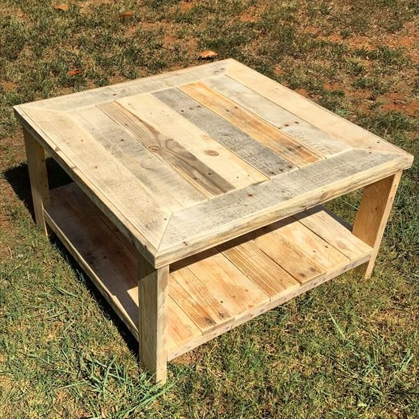 Pallet Wood Square Coffee Table