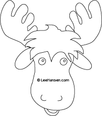 graphic about Moose Template Printable titled moose mask - Google Glimpse animal masks Mask template