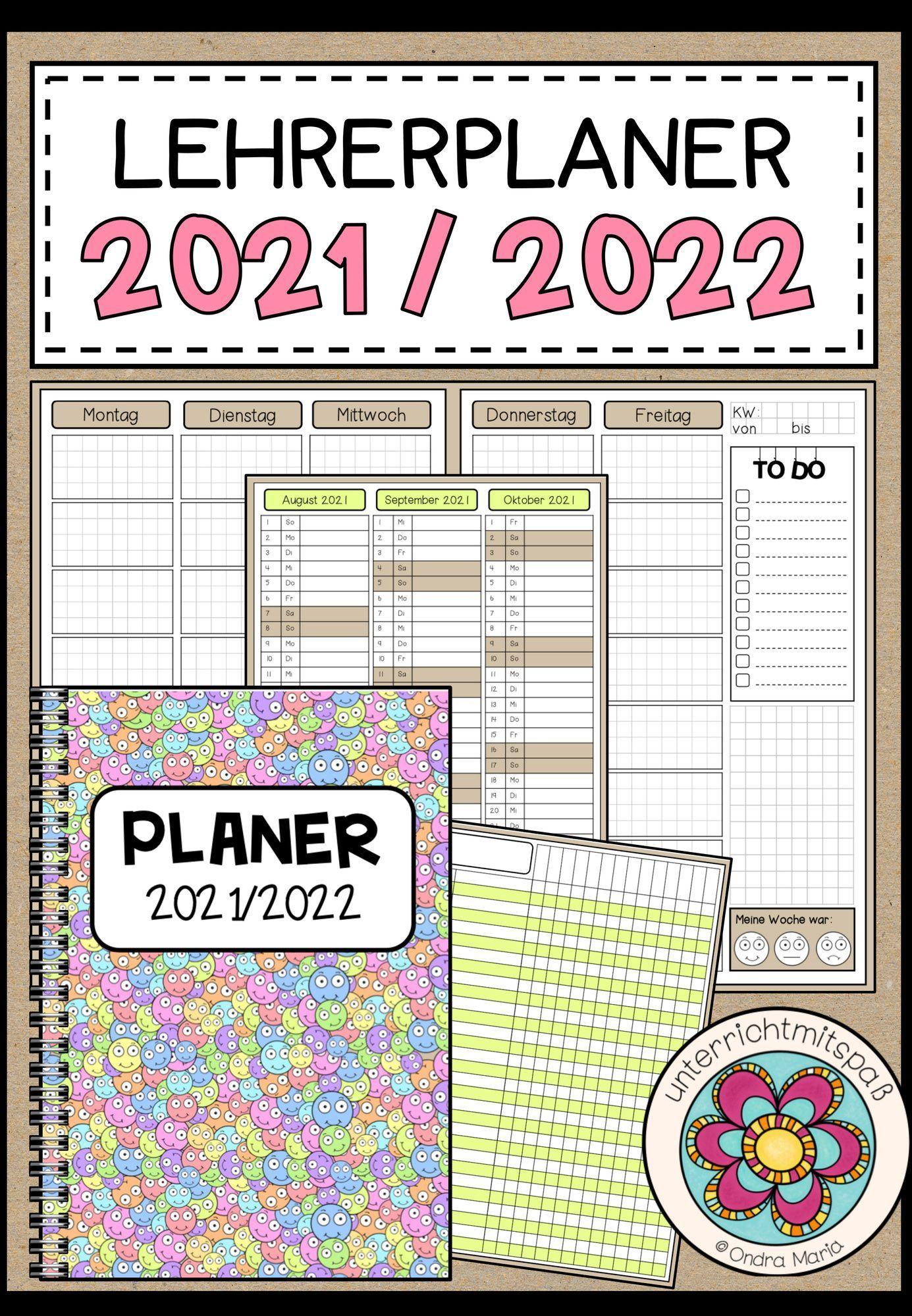 Lehrer Planer Schuljahr 20/20   Kalender für Lehrer Perfekt für ...