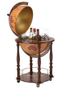 Modern Vintage Floor Globe Bar On Casters Italian 16 Diameter Globe Bar Contemporary Bar Vintage Floor