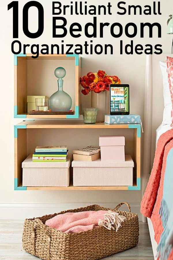10 Genius Organization Ideas For Small Bedrooms is part of bedroom Organization Declutter - It's hard to get a good nights rest when you're trying to unwind in a cluttered and disorganized space  It can be super hard to do when you are trying to neatly arrange all of your belongings in such a small area! Maybe your furniture is too big for the room and it's time to