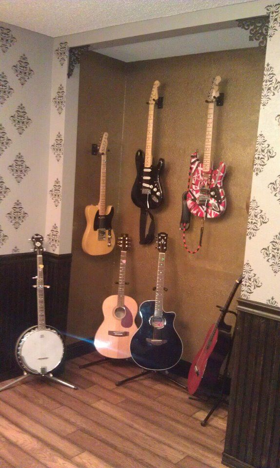Our Closet Turned Guitar Storage. It Sparkles!