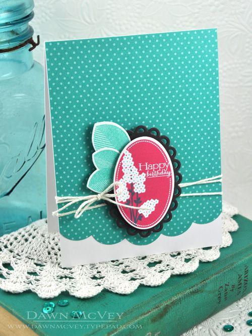 Happy Birthday Card by Dawn McVey for Papertrey Ink (February 2014)