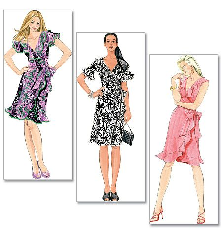 Sewing pattern, custom design, couture clothes, McCall\'s: dress with ...