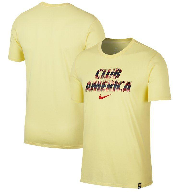 nike club tee yellow